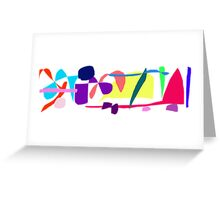 Miscellaneous Unknown World Songs Greeting Card