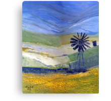 Canola in oil.  Canvas Print