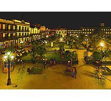 Plaza de La Libertad-Tampico, MX, Digital Interpretation Photographic Print