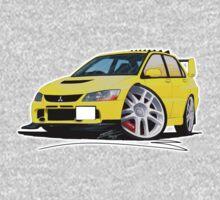 Mitsubishi Evo IX Yellow Kids Clothes