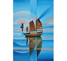 Soft Skies, Cerulean Seas and Cubist Junks Photographic Print