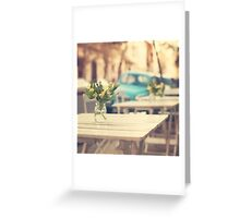 I'm gonna miss you a lot (Retro Pastel Coffee Shop in the Streets) Greeting Card