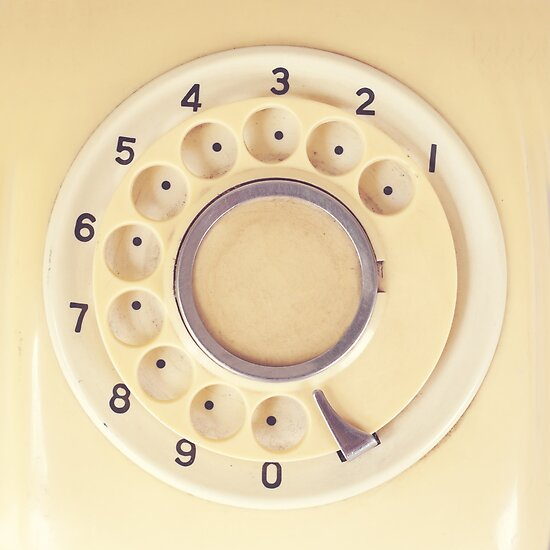Yellow Retro Telephone  by Andreka