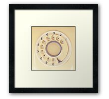 Yellow Retro Telephone  Framed Print