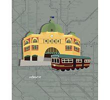 Flinders Station by JackBrain