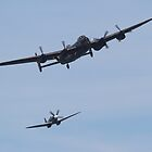 BBMF Lancaster and Spitfire by Shane Ransom