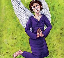 An Angel girl praying. by didielicious