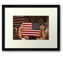Backwards Patriotism Framed Print
