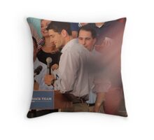 Paul Ryan wafts one to the crowd Throw Pillow