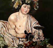 """Caravaggio's """"Adolescent Bacchus"""" by Heidi Erisman"""