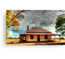Old Australian rural House in HDR Canvas Print