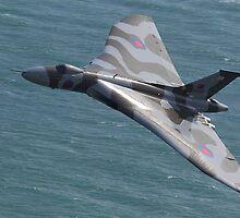 Vulcan Bomber Topside at Eastbourne by Shane Ransom