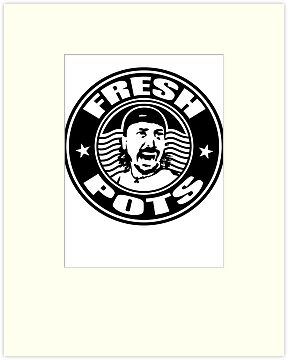 FRESH POTS COFFEE T-SHIRT white by FRESHPOTS