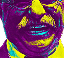 Bully! - Theodore Roosevelt - Cutout Text Sticker