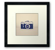 Retro - Vintage Black Camera on Beige Background  Framed Print