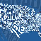 United States of Typography: Blue by jlo2006
