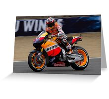 Casey Stoner at laguna seca 2011 Greeting Card