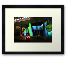 Brutal is beautiful with light Framed Print