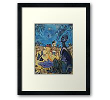 He Prays While Watching Over Us Framed Print