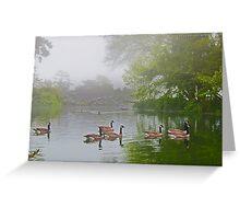 Stow Lake Wild Geese Greeting Card