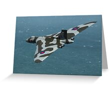 Eastbourne Airshow and the Vulcan Bomber. Greeting Card