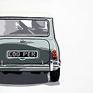 Classic Mini Cooper rear view. by Phil Bower