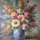 Vase of Flowers Still Life in Oils by Meaghan Louise
