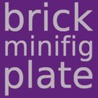 brick minifig plate by Customize My Minifig by ChilleeW