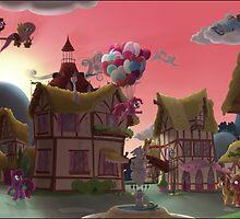 Ponyville, Dawn by Stinkehund