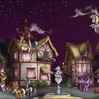 Ponyville, Dusk by Stinkehund