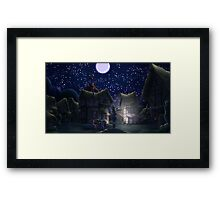 Ponyville, Night Framed Print