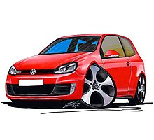 VW Golf GTi (Mk6) Red Photographic Print