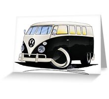 VW Splitty (11 Window) Black Greeting Card