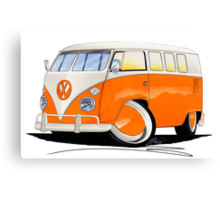 VW Splitty (11 Window) Orange Canvas Print