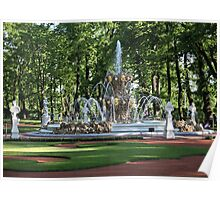 Fountain in the summer garden of St. Petersburg Poster