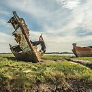 Wrecks on Fleetwood Marshes revisited by The Walker Touch