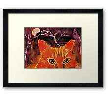 Spooky out here , Mom,!!  watercolor Framed Print