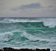 The Wild Atlantic Ocean of the coast of Doolin, Co Clare, Ireland by Shona McMillan
