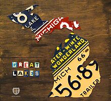 Michigan License Plate Map by designturnpike