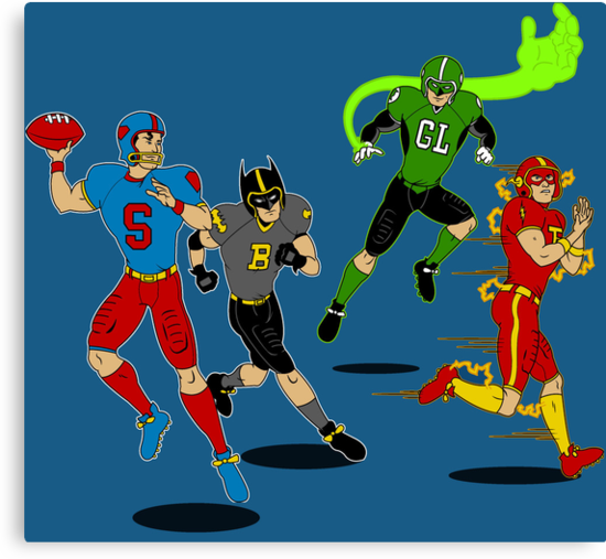 Superhero Football by mbecks114
