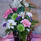 Morning Fresh Coffee and Flowers by Sherry Hallemeier