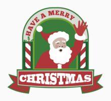 Santa Claus Father Christmas Retro T-Shirt