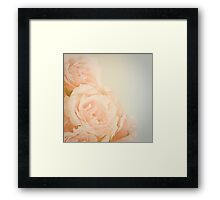 Pink Vintage Roses  Framed Print