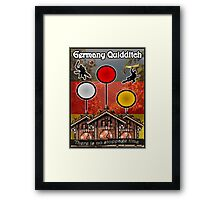 Germany Quidditch Redesigned  Framed Print