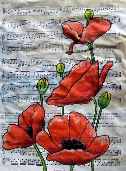Musical Poppies by Alexandra Felgate