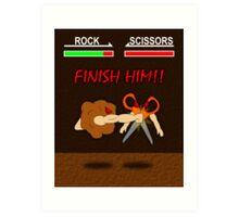 FINISH HIM!! Art Print