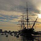 HMS Warrior, Portsmouth Dockyard by Caroline Anderson