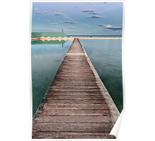 Newcastle Ocean Baths - The Pathway Poster
