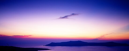 Sunset from Fira, Santorini by Robyn Carter