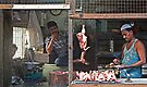 Chicken Stall Mumbai India by Heather Buckley